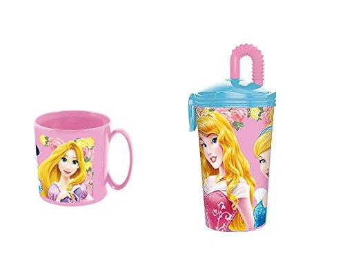 disney princesas, Taza apta para microondas y vaso.: Amazon ...