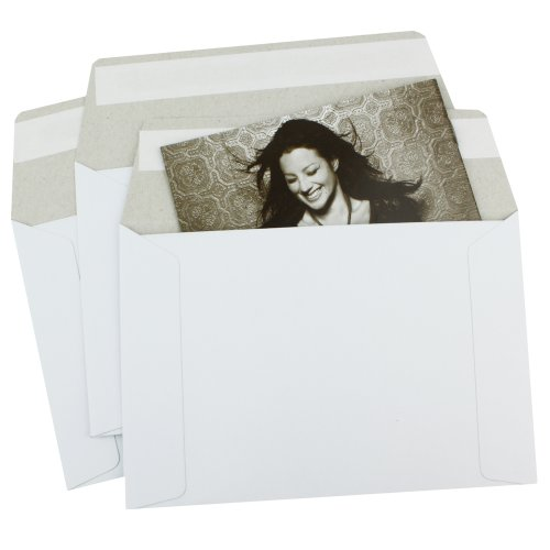 1000 EcoSwift 9 x 11.5 Rigid Photo Mailers Stay Flats White Cardboard Self Seal Envelopes 9x11.5 by EcoSwift