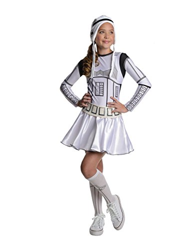 Star Wars Storm Trooper Tween Costume Dress, Small -