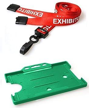 Identity Plus Rouge Pre Imprimee Compas Lanyard Avec Paysage Cartes De Visites Vert