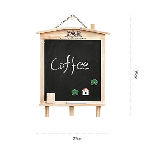 LIANGJUN Message Board Chalkboards Signs Solid Wood Hanging Bracket Coffee Shop Bar Sketchpad (Color : A, Size : 27x35cm) by LIANGJUN-lyj (Image #2)