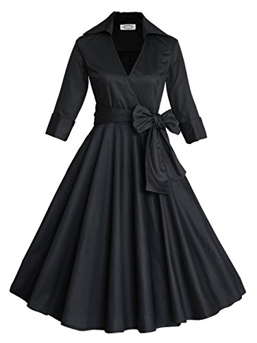 Fall Church Dresses for Women Special Occasions, Black (Church Lady Costume)