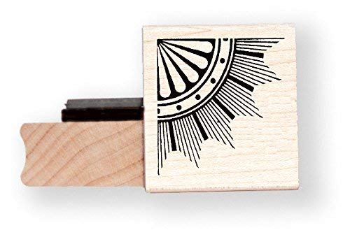 Art Deco Corner rubber stamp BR010C