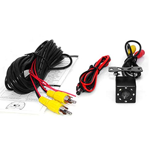likkas Universal Small 8LED Night Vision Car Rear View Camera Waterproof 170 Wide Angle Vehicle Backup Parking Camera