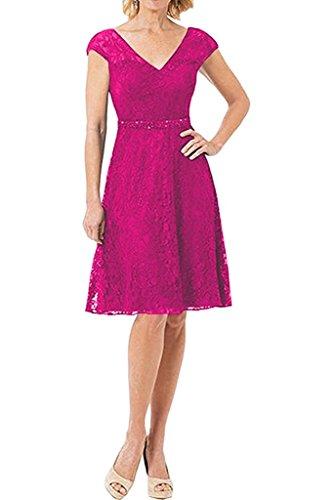 Braut Mini Damen Abschlussballkleider Cocktailkleider Spitze Marie Abendkleider Ballkleider La Pink Kurzes Promkleider Hq5wZ