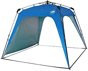 Lumaland Outdoor Pavillon Gartenzelt Camping Partyzelt Robust Blau