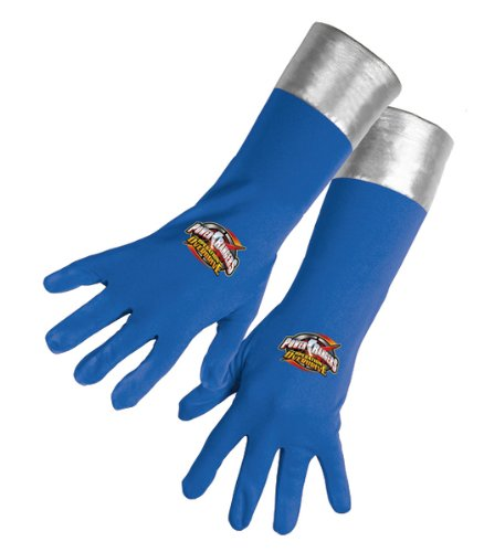 Power Rangers - Blue Power Ranger Gloves (Over Drive) (Child Blue Ranger Gloves)