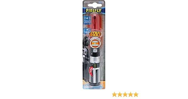 Cepillo de dientes de Star Wars con diseño de sable láser de Darth Vader + imán: Amazon.es: Salud y cuidado personal