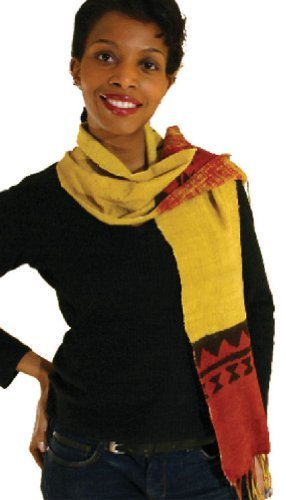 Extra Wide Authentic Handmade Hand Made Mudcloth Scarf Tablerunner - Each One Unique by African Inspired Fashions