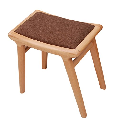 Trains Pedal (AIDELAI Bar Stool chair- Stool Oak Household Dressing Table Stool Sofa Stool Pedal Short Shoe Bench Bedroom Bench Saddle Seat (Color : A))
