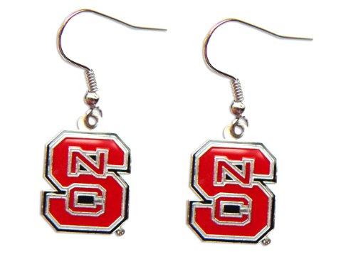(aminco NC State North Carolina State Wolfpack Dangle Logo Earring Set Ncaa Charm Gift)