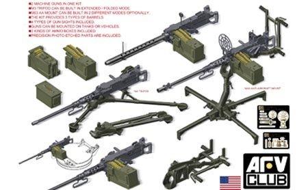 (AFV Club U.S. M2HB.50 Cal Machine Gun Set AF35246)