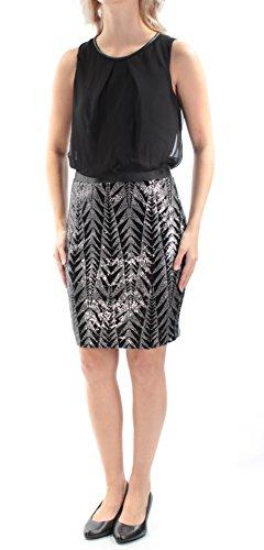 - Guess Womens Chiffon Bodice Sequined Sheath Dress