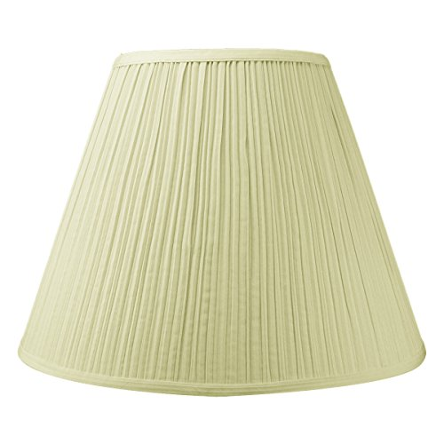 8x16x12 Empire Hardback Lampshade Egg Shell Mushroom Pleat with Brass Spider fitter By Home Concept - Perfect for table lamps and some desk lamps -Medium, Egg Shell - Mushroom Shade Table Lamp
