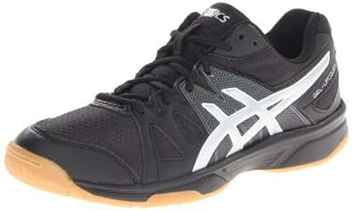 ASICS Women's Gel Upcourt Volleyball Shoe,Black/Silver,5 M US