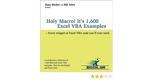Amazon.com: Holy Macro! It's 1,600 Excel VBA Examples ...