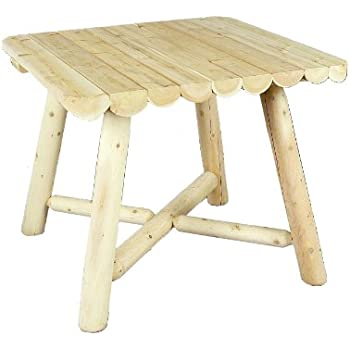 Amazoncom Cedarlooks Log Square Dining Table Inch - Square trestle dining table