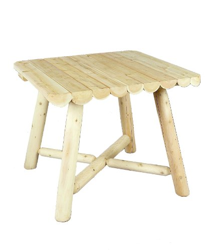 Cedarlooks 1100135 Log Square Dining Table, 37-Inch