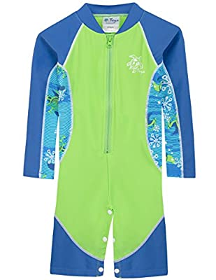 Tuga Boys Long Sleeve One Piece Swimsuit 3mos - 7 years, UPF 50+ Sun Protection