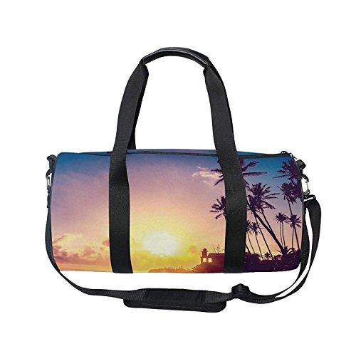b4760a882ad Duffel Bag Sunset Coconut Palm Trees Women Garment Gym Tote