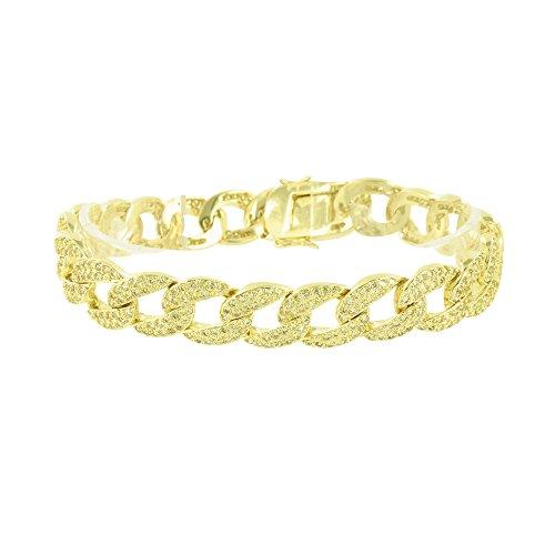 Miami Cuban Link Bracelet Designer Canary Lab Diamond Elegant Custom 8.5 Inch