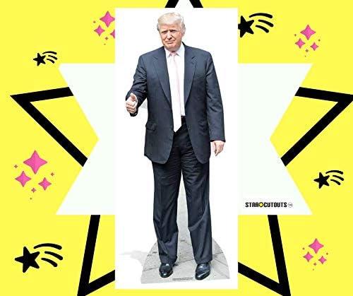 Star Cutouts Donald Trump (Rosa Tie) Vida tamaño de cartón ...