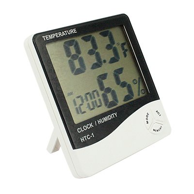 Dragonpad LCD Display Temperature and Humidity Meter with Alarm Clock Hygrometer Generic THM-016-2MX-p