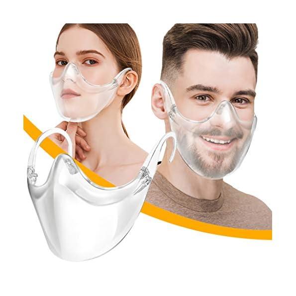 KJC-123510-Stcke-Mundschutz-Durchsichtig-GesichtsschutzPlexiglas-Waschbare-Wiederverwendbare-FaceVisier-fr-U-Transparente-Offene-FaceShield-GesichtsschutzSicherheitsgesichtsschutz