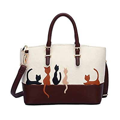 ZENTEII Women Faux Synthetic Leather Cat Handbag Shoulder Bag