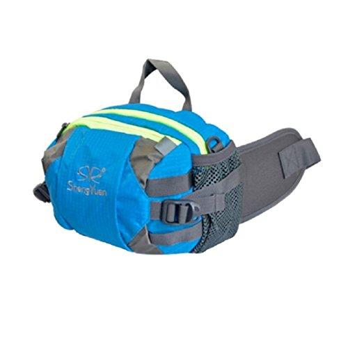 LF&F Backpack Camping Outdoor Rucksäcke Daypacks Sporttaschen Outdoor-Klettertaschen Umhängetaschen Männer und Frauen universell multifunktionale tragbare Taschen Reiten Camping Freizeit-Rucksack blue