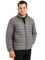 Hawke & Co Men\'sBig & Tall Manhattanite The New Packlite Jacket, Light Grey Heather, Large-Tall