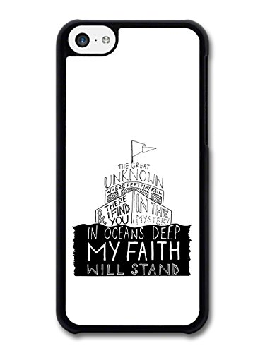 The Great Unknown Lyrics Hillsong United Jesus Quote coque pour iPhone 5C