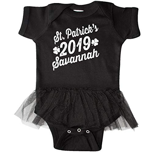 inktastic St Patricks Day 2019 Savannah Infant Tutu Bodysuit 6 Months Black