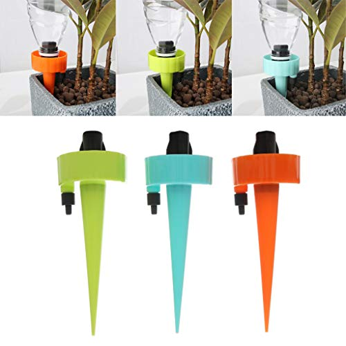 Finedayqi  Plant Self Watering Spikes Adjustable Stakes System Vacation Plant Waterer 3Pcs ()