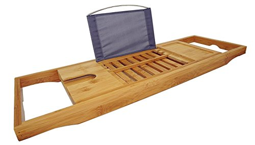 DozyAnt Bamboo Bathtub Adjustable Waterproof product image