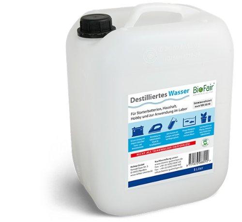 BioFair l'eau Doit ê tre dé miné ralisé e Selon vDE 0510– 10 litres Eau (purifié e)-Livraison Gratuite Richter