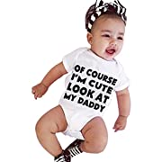 Baby Clothes, Egmy Cute Newborn Infant Baby Girl Boy Short Sleeve Letter Romper Jumpsuit Outfits Clothes (Size:3M)