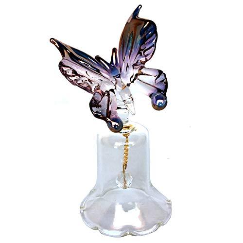 Prochaska Gallery Butterfly Bell Figurine of Hand Blown Glass