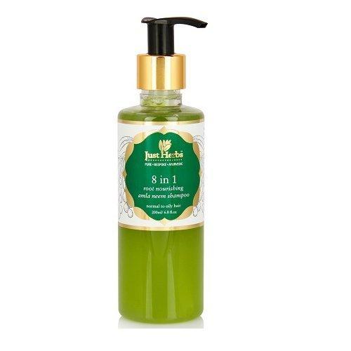 Just Herbs 8 In 1 Root Nourishing Amla Neem Shampoo (200 ml)