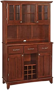 Home Styles Hutch Buffet with Wood Top