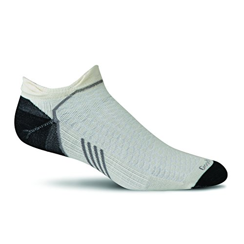 Sockwell Mens Incline Inspire Athletic Ultra Light Micro Socks  Large X Large  Natural