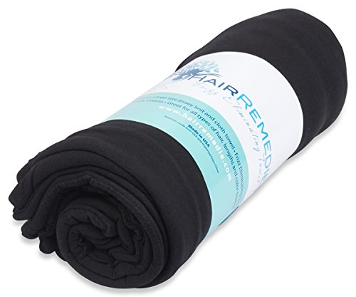 Natural Flours (Hair Remedie Frizz Eliminating Towel (Onyx) - The only Multi-Layered Hair Towel to Protect and Dry)