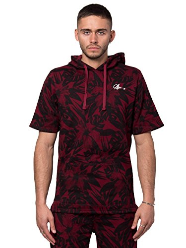 Young and Reckless - Topiary S/S Hoodie - Burgundy - L - Mens - Tops - Hoodies - Burgundy