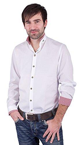 arido Trachtenhemd Herren langarm 2624255 weiß