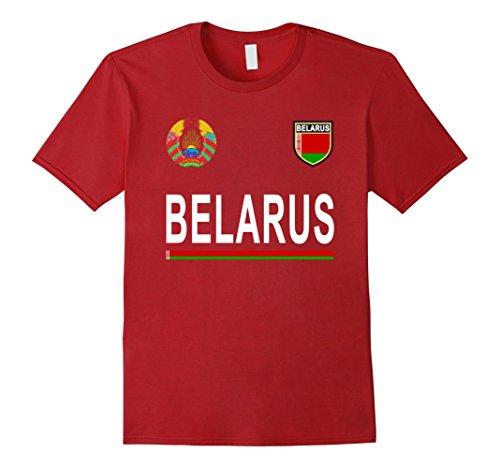 Mens Belarus Cheer Jersey - Belarusian Pride T-Shirt Medium Cranberry