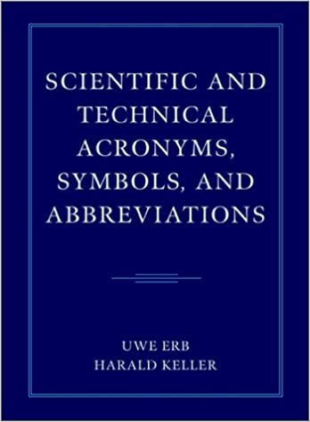 Scientific And Technical Acronyms Symbols And Abbreviations Uwe