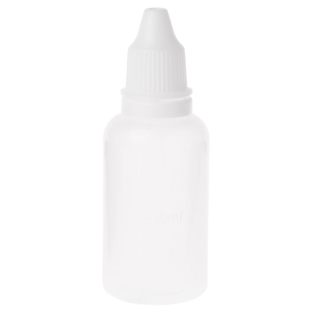 SimpleLif Empty Plastic Squeezable Dropper Bottles Eye Liquid Dropper Container 30ml