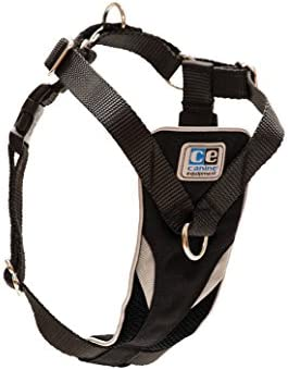 XYBB Harnais Chien Nylon No Pull Dog Harness Large Breakaway Dogs Collars and Harnesses Breathable Service Dog Harnais Boutique M Gris
