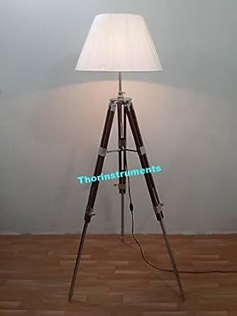 Thor Marien Designer Royal Living Room Brown Tripod Floor Lamp Home Decor