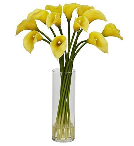 SKB Family Mini Calla Lily Silk Flower Arrangement origin colorful by SKB family